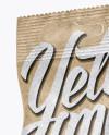 Kraft Snack Package Mockup - Half Side View