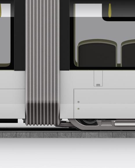 Light Rail Train Bybanen Mockup - Side View