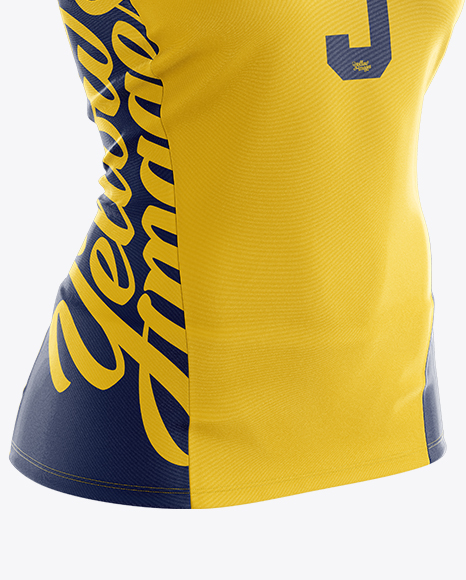 Women's Volleyball Jersey Mockup - Half Side View