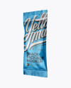 Matte Metallic Snack Package Mockup - Half Side View
