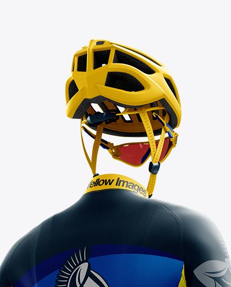 Men's Full Cycling Kit mockup (Hero Back Shot)