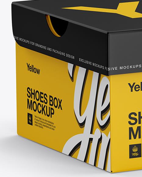 Download Carton Box Mockup Half Side PSD - Free PSD Mockup Templates