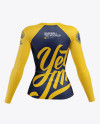 Women's Baseball T-shirt with Long Sleeves Mockup - Back View