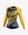 Women's Baseball T-shirt with Long Sleeves Mockup - Half Side View