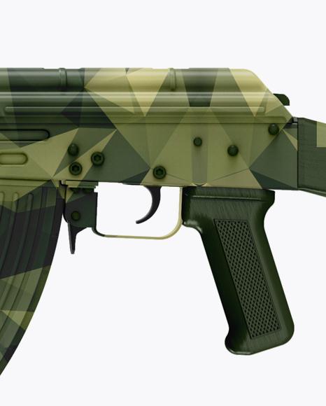 AK-74 Mockup - Side View