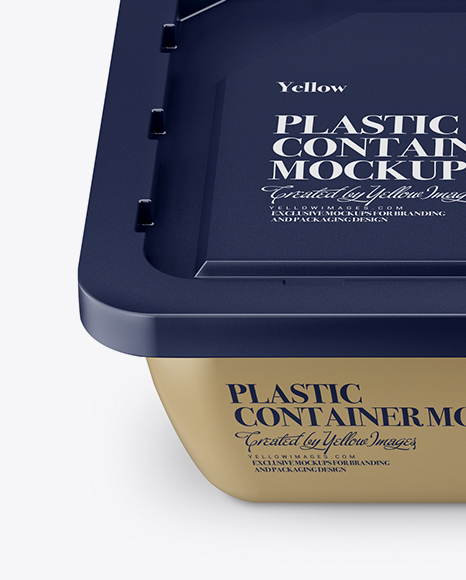 Plastic Container Mockup - High-Angle Shot