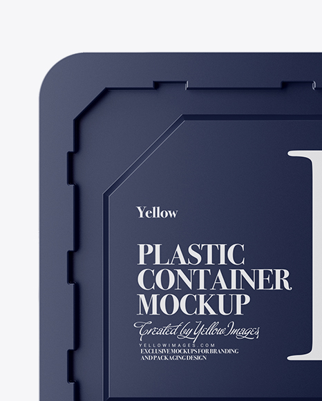 Two Plastic Containers Mockup - Side & Top Views