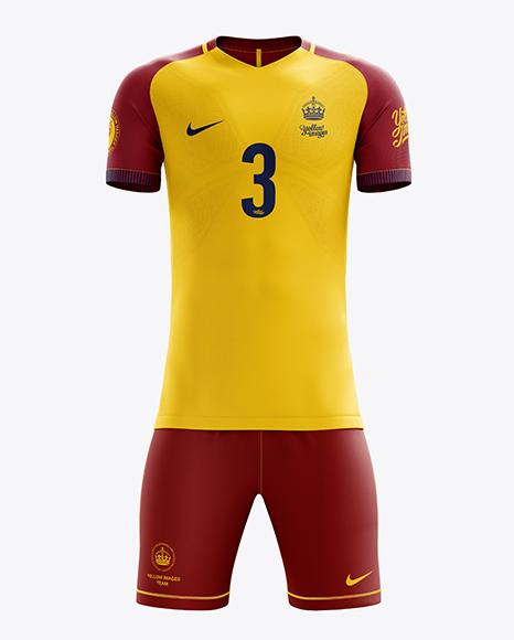 Men's Full Soccer Team Kit mockup (Front View)