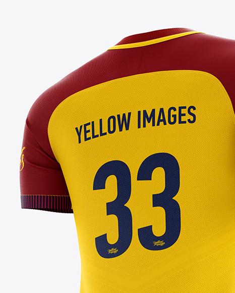 Men's Full Soccer Team Kit mockup (Hero Back Shot)