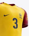 Men's Full Soccer Team Kit mockup (Hero Shot)