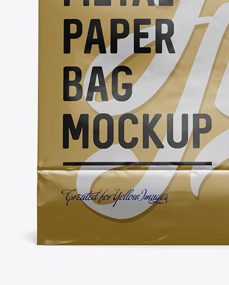 Download Matte Metallic Flour Bag Mockup Front View Eye Level Shot PSD - Free PSD Mockup Templates
