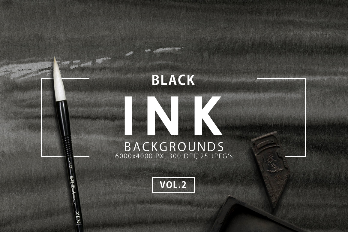 Black Ink Backgrounds Vol. 2