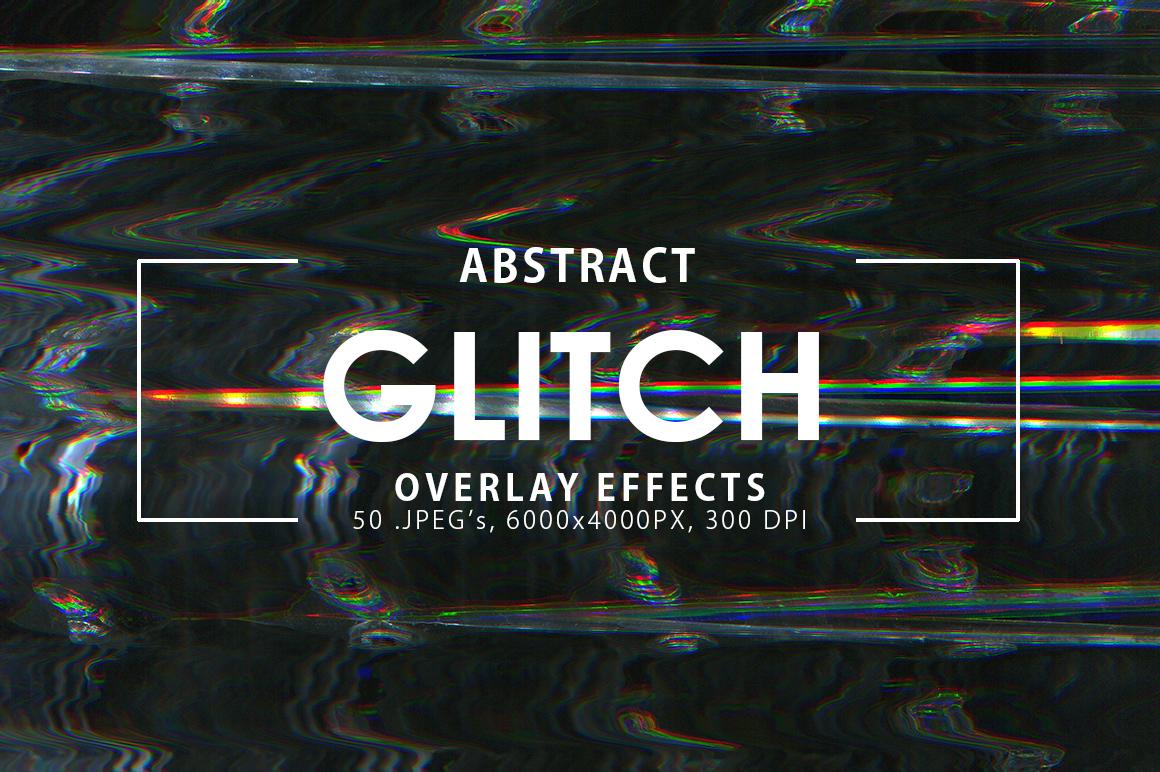 50 Glitch Overlay Textures