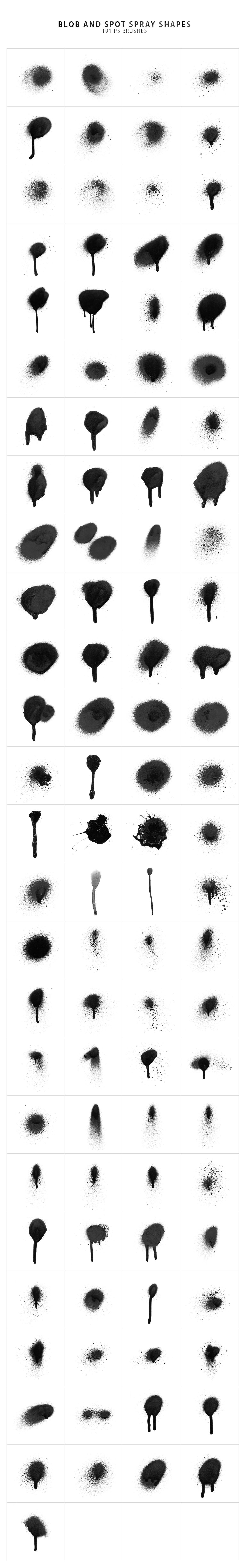 214 Spray Photoshop Stamp Brushes