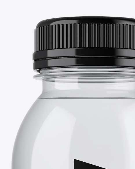 Clear PET Bottle With Water Mockup