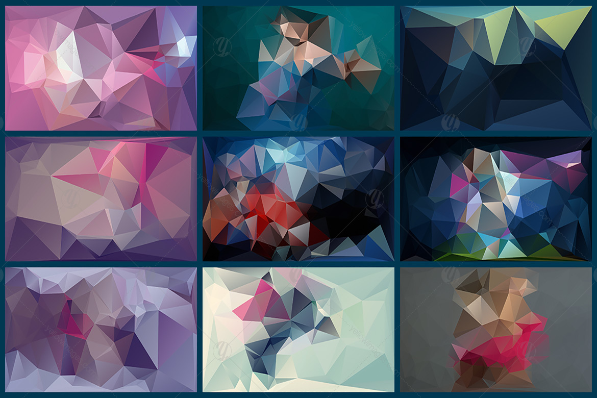Polygon Abstract Backgrounds V3