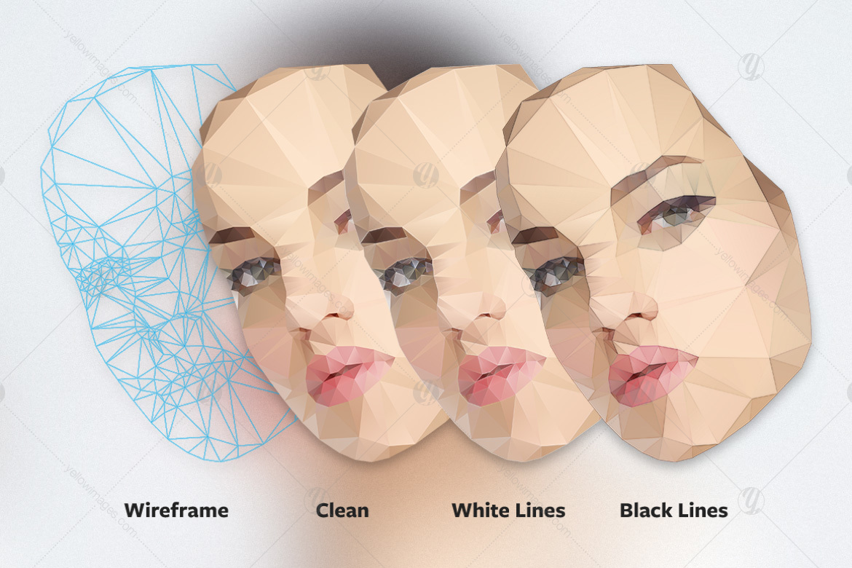 Polygonal Female Faces