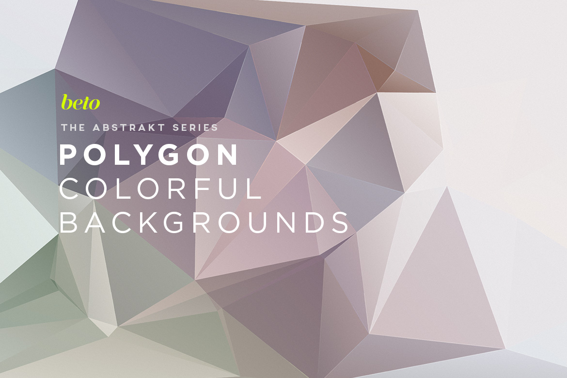Polygon Abstract Backgrounds V4
