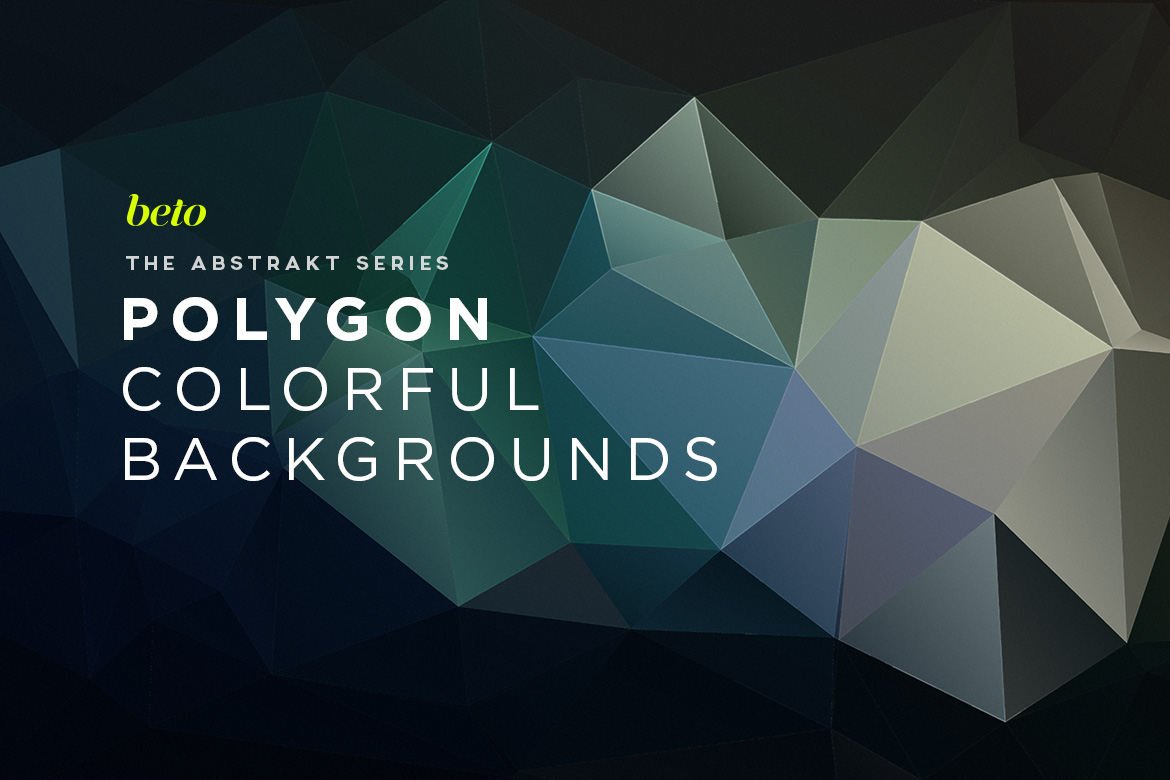 Polygon Abstract Backgrounds V7
