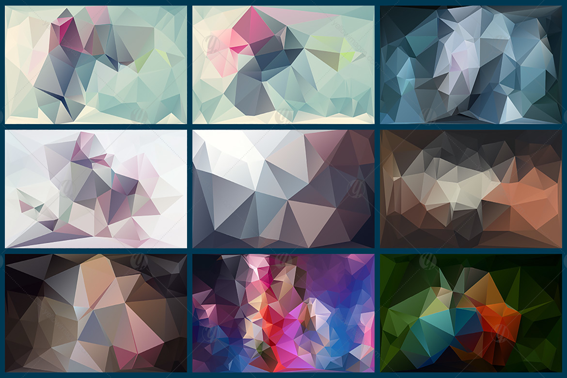 Polygon Abstract Backgrounds V8