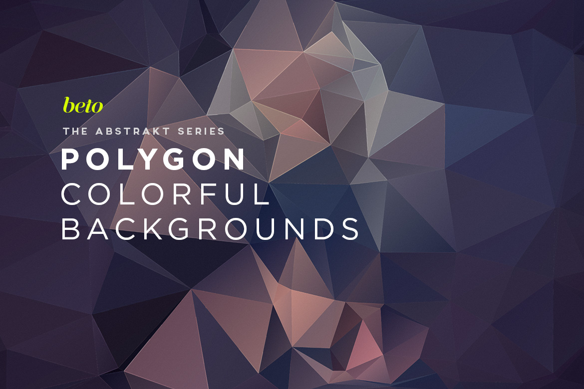 Polygon Abstract Backgrounds V10