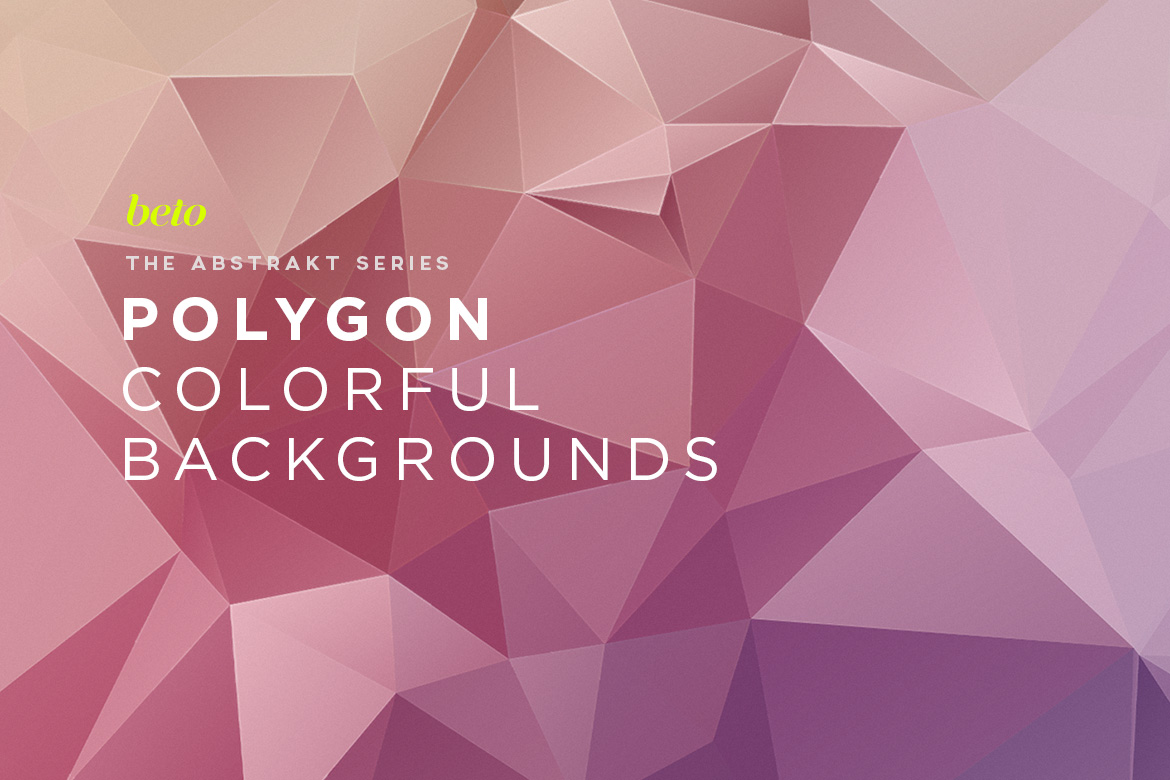 Polygon Abstract Backgrounds V12