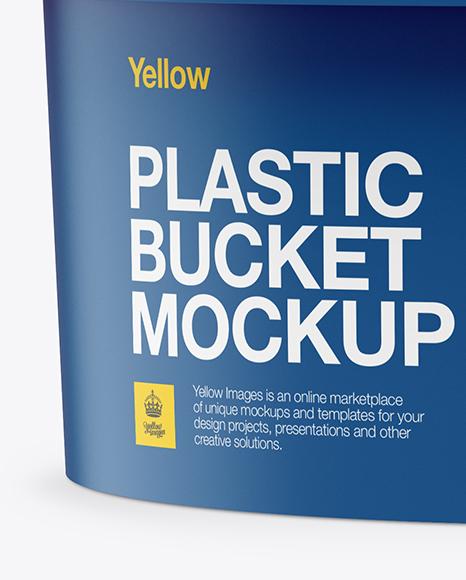 Matte Plastic Tub Mockup