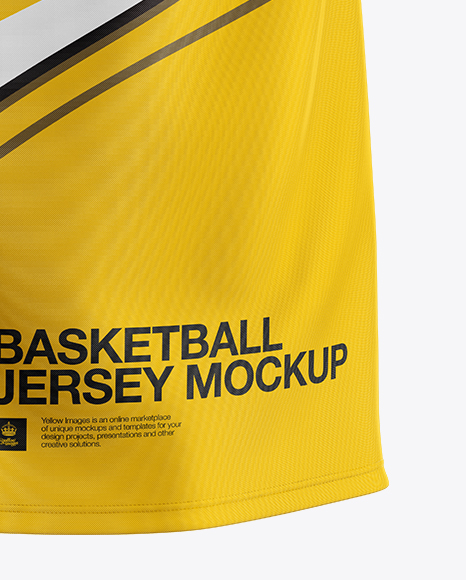 Basketball Jersey Mockup - Back View