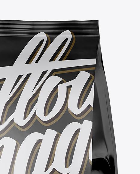 Matte Snack Bag Mockup - Half Side View