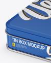 Matte Tin Box Mockup - Half Side View