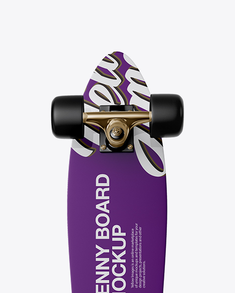 Penny Board Mockup - Back View