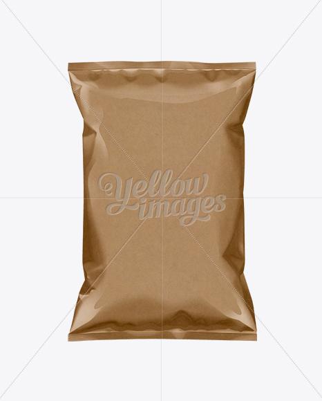 Kraft Paper Snack Bag Mockup