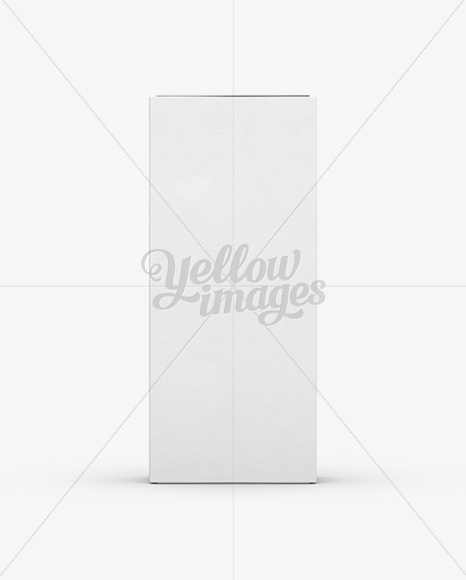 White Paper Box Mockup - Front View (Eye-Level Shot)