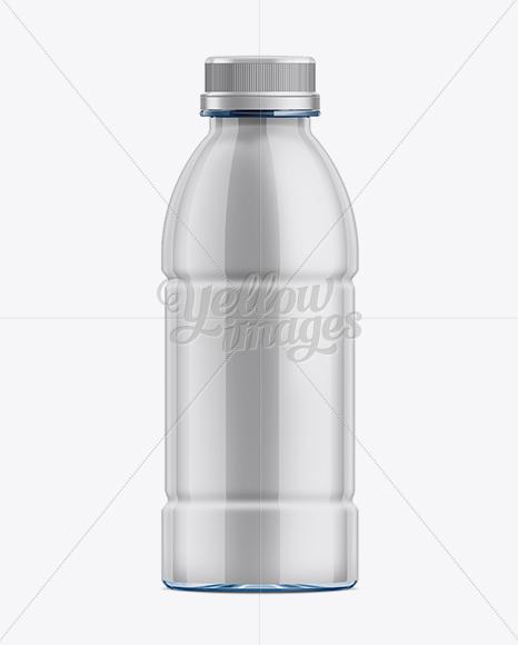 500ml Clear PET Bottle w/ Shrink Sleeve Label Mockup