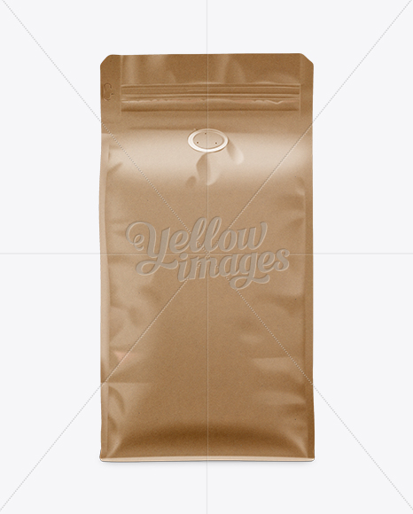 Download Coffee Bag Mockup Front View In Bag Sack Mockups On Yellow Images Object Mockups Yellowimages Mockups
