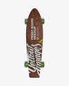 Penny Board with Transparent Wheels Mockup - Front View
