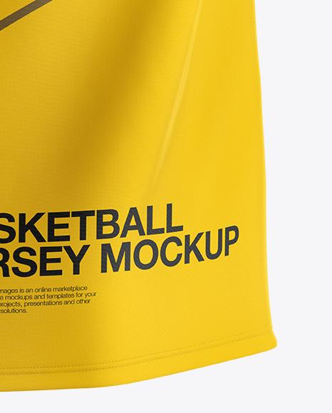 Basketball Jersey with V-Neck Mockup - Back View