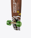Penny Board with Transparent Wheels Mockup - Back Half Side View