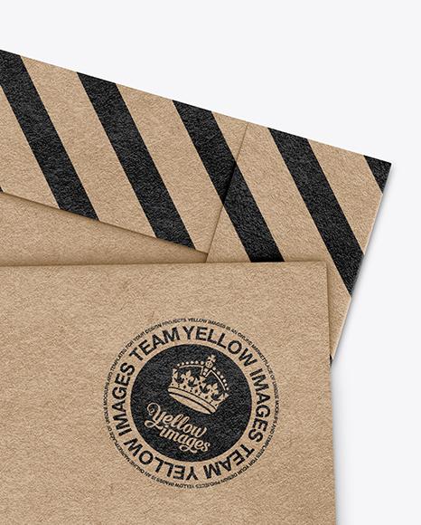 Kraft Paper Envelope Mockup