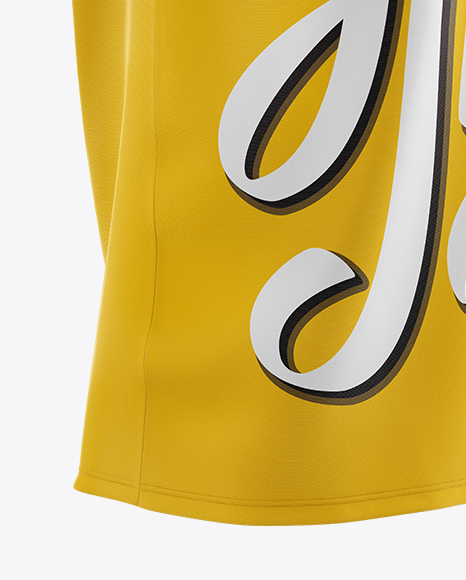 Download Basketball Jersey With V Neck Mockup Back View Yellowimages