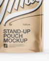 Kraft Stand Up Pouch with Zipper Mockup