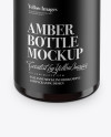 Amber Plastic Bottle Mockup (High-Angle Shot)