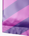 Matte Metallic Wet Wipes Pack Mockup - Half Side View