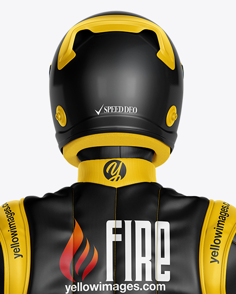 Download F1 Racing Kit Mockup Back View Yellowimages