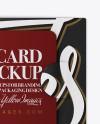 Gift Card Mockup - Top View
