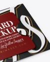 Gift Card Mockup - Halfside View ( High-Angle Shot )