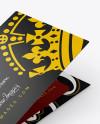 Closed Gift Card Mockup - Halfside View ( High-Angle Shot )