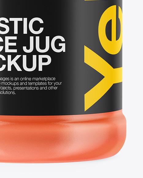 Clear Plastic Juice Jug Mockup