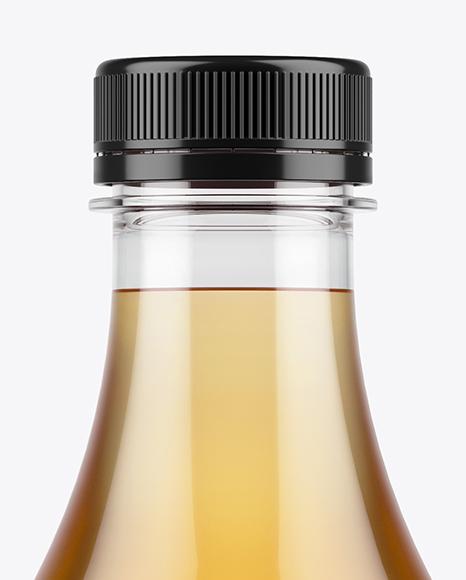 Plastic Apple Juice Bottle Mockup