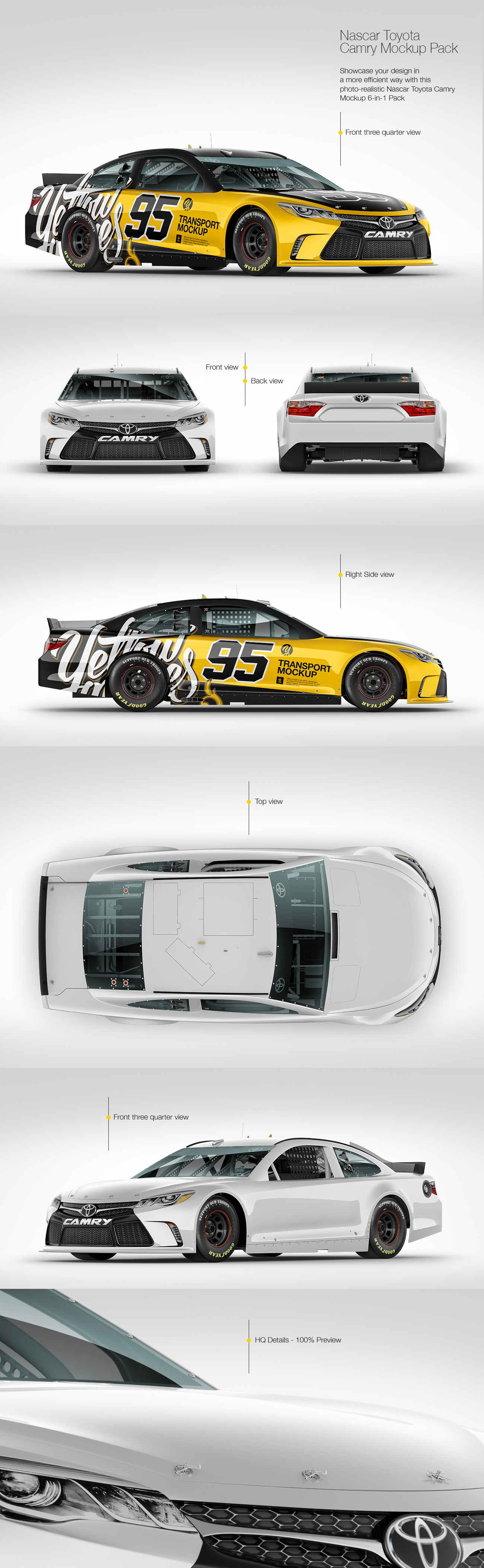 Nascar Camry Mockup Pack in Handpicked Sets of Vehicles on